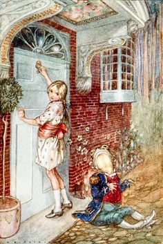 ~✿✿✿~A E Jackson - Alice's Illustrated Adventures In Wonderland, Albert Edward Jackson (1873 London -1952 Hastings, East Sussex) was an illustrator active between 1910 and 1920, famous for his edition of Robinson Crusoe, Gulliver's Travels, Water Babies, and Alice's Adventures in Wonderland.~✿✿✿~