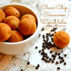 Chocolate Cinnamon Donut Holes:  Baking with Almond Flour