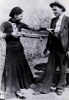 Bonnie & Clyde.  Finished what they started, even when they realized that they were wrong, and doomed.  I don't uphold the crimes, but their undauntable spirit.