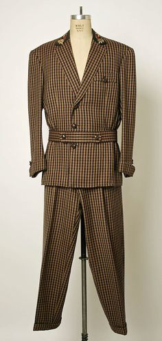 Suit, Tommy Nutter  (British, 1943–1992), ca. 1989