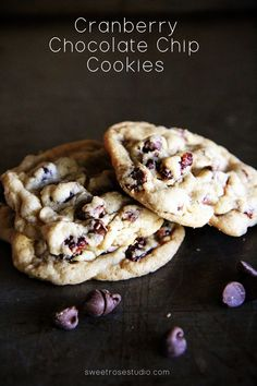 Cranberry Chocolate Chip Cookie Recipe at Sweet Rose Studio
