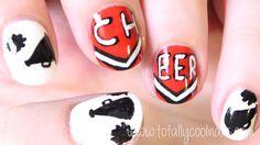 Totally Cool Nails: cheerleading  #nail #nails #nailart