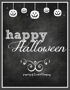Happy Halloween Chalkboard Style Instant Download via Etsy