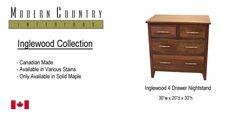 Inglewood 4 drawer nightstand