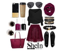 """SheIn Contest"" by cjcstyle ❤ liked on Polyvore featuring Samantha Wills, The Row, Alice + Olivia, ASOS, Michael Kors, Halogen, Forever 21, Essie and Kate Spade"
