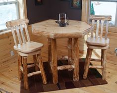 Twist of Nature's Octagon Pub Table - great for dining, visiting or playing a hand of cards!