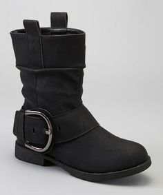 Take a look at this Black Luam Boot by Liliana Footwear on #zulily today!