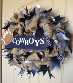 Custom Team Spirit Wreath by SassiChicBoutique on Etsy, $74.95