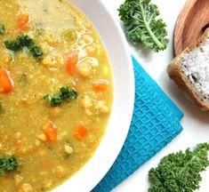 Veganmisjonens quinoasuppe med spretne kikerter Indian Kitchen, Cheeseburger Chowder, Hummus, Vegan Recipes, Easy Meals, Soup, Asian, Ethnic Recipes, Drinks