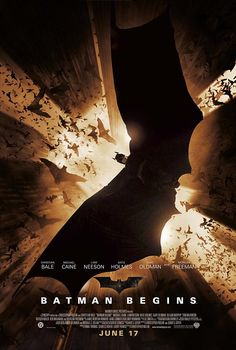 Batman Begins With Christian Bale, Michael Caine, Liam Neeson, Katie Holmes. Written by Bob Kane, David S. Goyer and Christopher Nolan. Directed by Christopher Nolan. Dc Movies, Action Movies, Movies To Watch, Good Movies, Movies Online, Christopher Nolan, Chris Nolan, Christian Bale, Batman Begins Movie