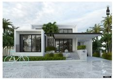 Modern style 01 Flat House Design, Modern Bungalow House Design, Modern Bungalow Exterior, Single Floor House Design, Modern Small House Design, Modern House Facades, Home Modern, House Front Design, Modern Architecture House