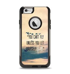 The Pastel Sunset You Cant Fly Unless You Let Yourself Fall Apple iPhone 6 Otterbox Commuter Case Skin Set