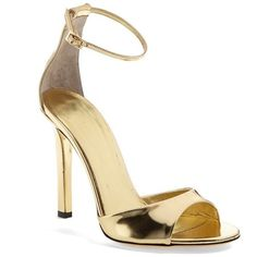 Women's Tamara Mellon 'Whisper' Sandal ($390) ❤ liked on Polyvore featuring shoes, sandals, heels, sapatos, high heels, tamara mellon shoes, high heel sandals, high heel shoes, metallic high heel sandals e heeled sandals