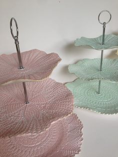 Earthenware lace cake stand by Sandy Godwin.