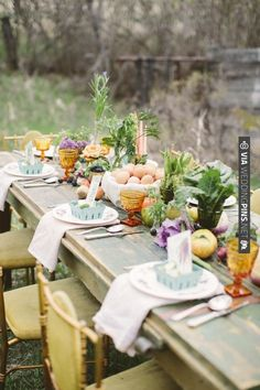 farm table decor ideas | CHECK OUT MORE IDEAS AT WEDDINGPINS.NET | #wedding