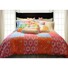 @Overstock - Add a fun touch to any bedroom decor with this Clarrisa duvet cover set. This bedding ensemble showcases a brightly colored patchwork print. http://www.overstock.com/Bedding-Bath/Clarrisa-Queen-size-Duvet-Cover-Set/5661987/product.html?CID=214117 $69.99