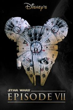 Episode VII Fan Poster showing the Millenium Falcon with Mickey Ears Disney Star Wars, Disney Stars, Disney Love, Walt Disney Pictures, Star Wars Love, Star Wars Art, Kit Fisto, Poster Disney, Jar Jar Binks