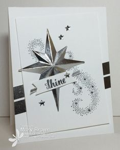 stamercamper.com - The theme for this week's Create with Connie and Mary Design Team Saturday Blog Hop was 'Swing on a Star' and I decided to use the brand new (and totally FABULOUS) Star of Light set (and matching framelits) from the new mini catalog.  You can get the details and start the hop by visiting my blog.  Set:  Star of Light