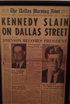 Kennedy | Original Dallas Morning News | November 22, 1963