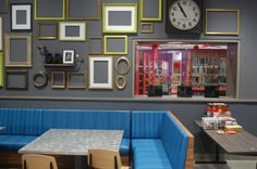 """""""They will be able to eat over here,"""" Colford says of Teen Central. """"This is really designed for them to hang out."""" (Greg Cook)"""