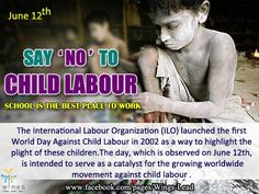 "Say ""No"" To Child Labor"