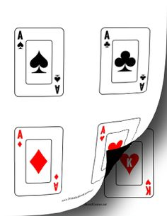 This printable card deck has 52 standard playing cards that can be printed on decorated cardstock Make Playing Cards, Blank Playing Cards, Playing Card Crafts, Printable Playing Cards, Printable Cards, Printables, Printable Board Games, Templates Printable Free, Card Templates