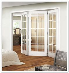 Bifold styled interior french doors