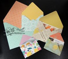 www.PattyStamps.com - yay for the Stampin Up envelope punch board... love making gift card holders with the smallest sized envelope!