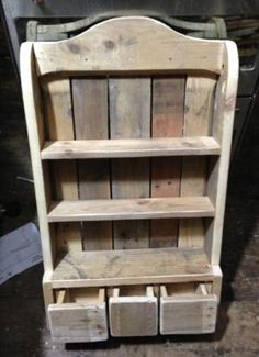 Reclaimed wood. Spice rack by imogene