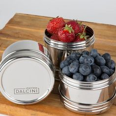 Stainless steel containers- twist top trio- berries