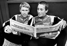 1977 - TI-Raleigh - Tour de France Hennie Kuiper together with teammate Aad van de Hoek.