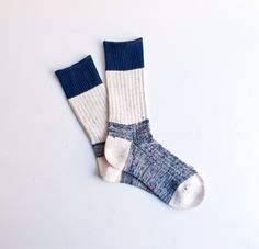 A thick wool sock for walking around the house.