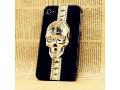 3D Crystal Skull iPhone 4 Case