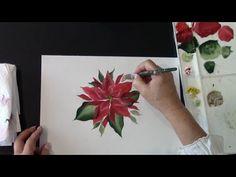 POINSETTIA - FLOR DE NAVIDAD - PINTURA MULTICARGA - (PINTURA DECORATIVA) - YouTube
