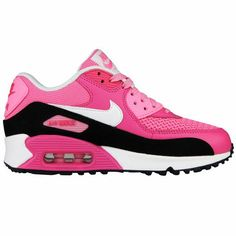 Girls Nike Air Max 90 LE GS Shoes Pink Black