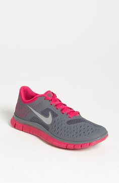 Nike 'Free 4.0 V2' Running Shoe (Women) available at #Nordstrom, especially the black/fireberry/night blue pair.  #oh my