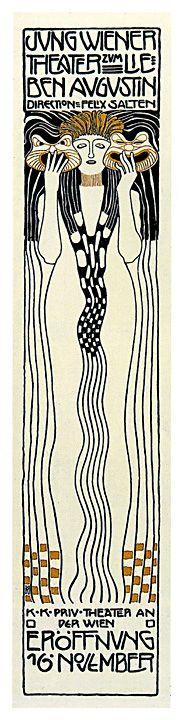 Art Nouveau Poster - Jungwiener Theatre