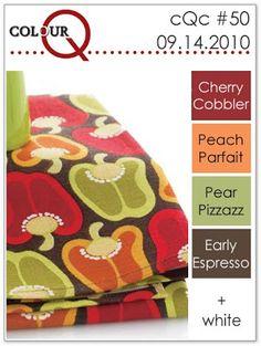 colourQ #50: September 2010 Cherry Cobbler Peach Parfait Pear Pizzazz Early Espresso