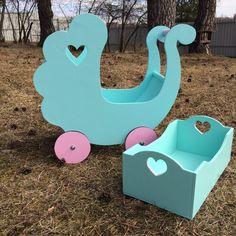 Купить Коляска и кроватка для кукол - коляска, колясочка, коляска для кукол, мебель для кукол