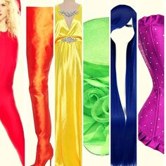 "467818f1bd The Drag Queen Closet on Instagram  "" Pride ❤💛💚💙💜  prideweek  tdqc   thedragqueencloset  catsuit  boots  shoes  dress  wigs  accessories  corset  ..."