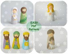 Felt Nativity Set Pattern Felt Nativity scene  di MagicPatternShop