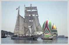 My favorite vacations when i was a kid were the two sailing trips i took on these sailing boats like this one