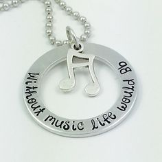 """""""Without music life would B flat"""" is the perfect gift for the music lover in your life."""