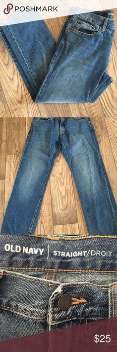 Men's Old Navy Straight Leg Jeans 34/30 Old Navy Men's Straight Leg Jeans- Size: 34/30 Old Navy Jeans Straight