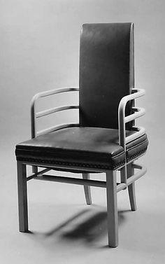 Art Deco armchair designed by Kem WEBER, ca. 1928. Grand Rapids Chair Company