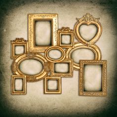 Check out Baroque golden frames by LiliGraphie on Creative Market