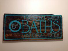 Middle bathroom sign.