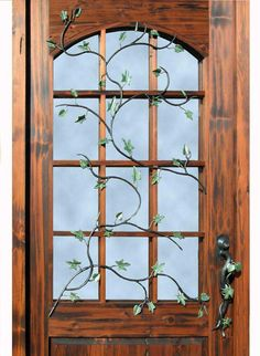 decorative iron door inspired from antique Tuscanny design.