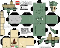 Lego star wars yoda papercraft