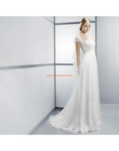 Süße kurz Ärmel empire Taille Brautkleider aus Softnetz - Jesús Peiró